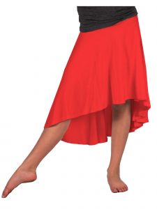 Lori Jane Big Girls Red Hi-Low Skirt 6-16