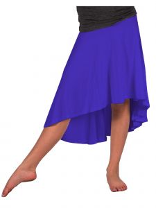 Lori Jane Big Girls Royal Blue Hi-Low Skirt 6-16