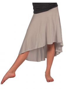 Lori Jane Big Girls Taupe Hi-Low Skirt 6-16