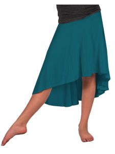 Lori Jane Big Girls Teal Hi-Low Skirt 16