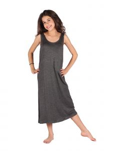Lori Jane Big Girls Charcoal Trendy Maxi Dress 6-16