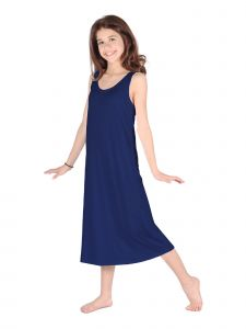 Lori Jane Big Girls Navy Trendy Maxi Dress 6-16