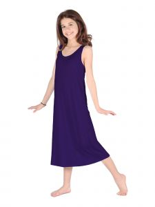 Lori Jane Big Girls Eggplant Trendy Maxi Dress 6-16