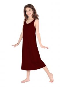 Lori Jane Big Girls Wine Trendy Maxi Dress 6-16