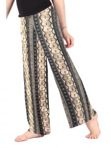 Lori Jane Big Girls Beige Printed Palazzo Pants 6-16