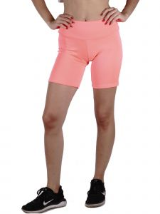 Lori Jane Big Girls Pink Solid High Waist Workout Biker Shorts 8-16