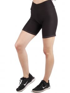 Lori Jane Big Girls Black Solid High Waist Workout Biker Shorts 8-16