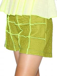 Lanoosh Big Girls Green Karakusi Kanach Fitted Silhouette Shorts 8-14