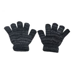 Gold Medal Girls Black Grey Two Tone Mixed Color Winter Gloves