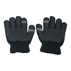 Gold Medal Girls Black Contrast Dotted Winter Gloves