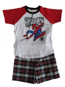 Marvel Little Boys Red White Spider-Man Short Sleeve Outfit 2T-4T