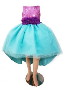 Sinai Kids Big Girls Blue Little Mermaid Melany Flower Girl Dress 8-12