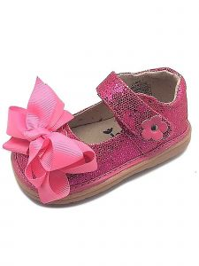 Mooshu Trainers Little Girls Hot Pink Sparkle Squeak Mary Jane Shoes 5-9 Toddler