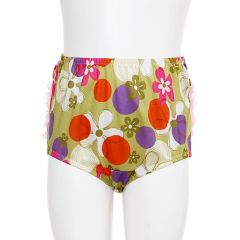 Little Zazzy Green Bloomers Size 24M Retro Flower Print Baby Girl