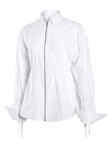 J.CHUNG Womens White Zip-up Top S-L