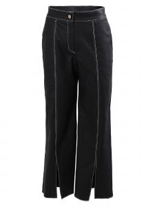 Maison De Ines Womens Black Stitch Point Coated Pants S-L