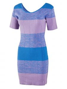 Jarret Womens Multi Color Wide Stripe Knit Dress S-L