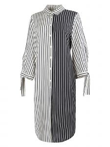 Zuvin Womens Multi Stripe Contrast Tunic Dress S-L