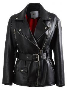 Musee Womens Black Matisse Leather Rider Jacket S-L