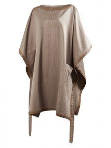 Musee Womens Brown Box Cut Poncho S-L
