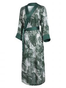 Zuvin Womens Multi Tropical Print Duster Robe S-L