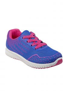 Josmo Little Girls Royal Blue Fuchsia Lace-Up Fashion Sneakers 6 Toddler-11 Kids