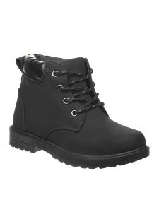 Josmo Girls Black Rubber Sole Casual Lace Up Boots 11-4 Kids