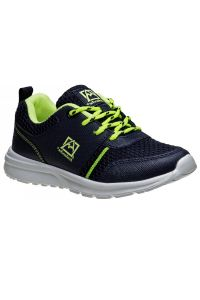 Avalanche Boys Navy Lime Lace Up Breathable Pull On Sneakers 11-4 kids