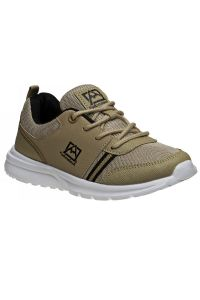 Avalanche Boys Taupe Black Lace Up Breathable Pull On Sneakers 11-4 kids