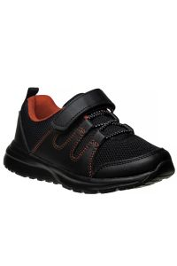 Avalanche Boys Black Red Hook And Loop Breathable Pull On Sneakers 11-4 kids