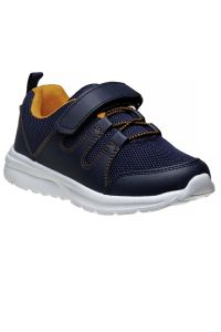 Avalanche Boys Navy Orange Hook And Loop Breathable Pull On Sneakers 11-4 kids