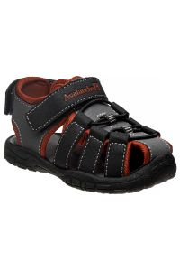 Avalanche Little Boys Black Red Closed Toe Rugged Sandals 5-10 Toddler