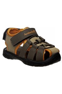 Avalanche Boys Brown Orange Closed Toe Rugged Sandals 11-4 Kids