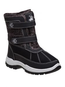 Beverly Hills Boys Black Hook And Loop Snow Boots 6-10 Toddler