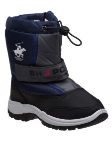 Beverly Hills Unisex Navy Hook And Loop Zipper Snow Boots 6-10 Toddler