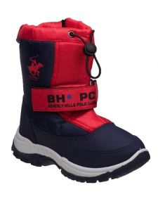 Beverly Hills Unisex Red Hook And Loop Zipper Snow Boots 6-10 Toddler