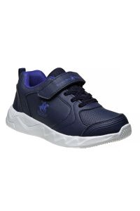 Beverly Hills Boys Navy Blue Lace Up Hook And Loop Logo Sneakers 11-5 kids