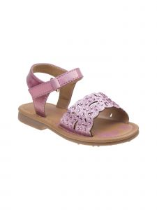 Laura Ashley Little Girls Pink Glitter Rhinestone Accent Sandals 5-10 Toddler
