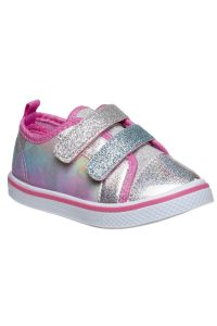 Laura Ashley Little Girls Pink Silver Glitter Low Top Sneakers 5-10 Toddler