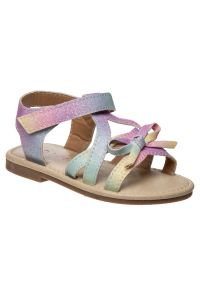 Laura Ashley Little Girls Multi Color Bow Accent T Strap Sandals 5-10 Toddler