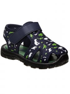 Rugged Bear Little Boys Multi Color Closed Toe Printed Sandals 5-10 Toddler