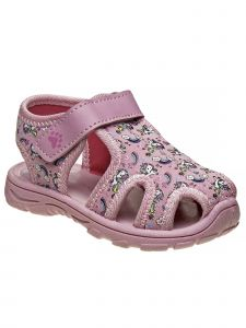 Rugged Bear Little Boys Pink Closed Toe Printed Sandals 5-10 Toddler