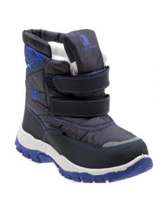 Rugged Bear Boys Navy Blue Hook And Loop Snow Boots 6-10 Toddler