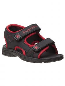 Rugged Bear Boys Multi Color Double Hook And Loop Sandals 5 Toddler-4 Kids