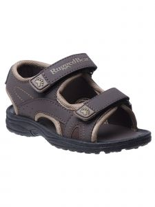 Rugged Bear Little Boys Brown Double Hook And Loop Sandals 5-10 Toddler