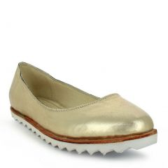 Oncextrees Adult White Genuine Leather Fashionable Slip On Flats 5-10 Womens