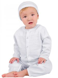 Little Things Mean A Lot Baby Boys White Aiden Christening Outfit Newborn-12M