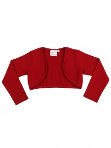 Ooh! La La! Couture Big Girls Red Long Sleeved Stylish Bolero Shrug 7-14