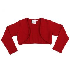 Ooh! La La! Couture Little Girls Red Long Sleeved Stylish Bolero Shrug 2-3T