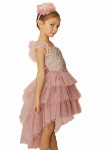 Ooh! La, La! Couture Little Girls Mauve Clara Fancy Christmas Dress 2T-6